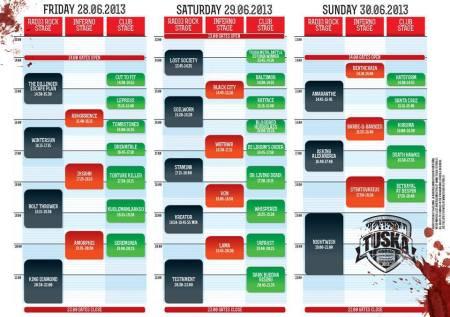 Tuska Festival Schedule 2013