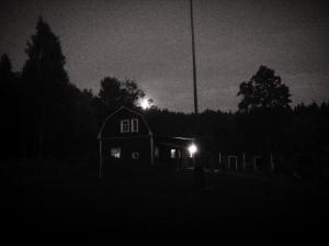Konttila by night at full moon.