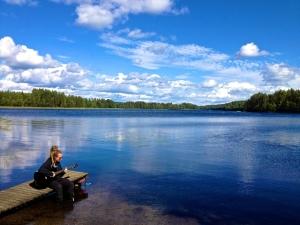 Usva, luring the fish.